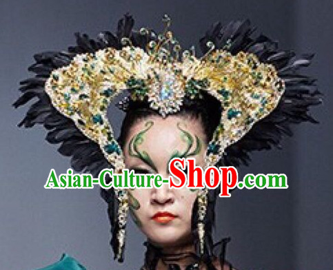 Chinese Modern Stage Performance Headwear Headgear Hair Jewelry Hairpieces Set