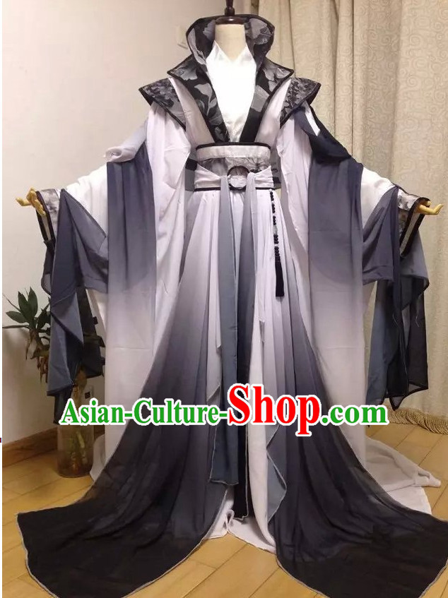 Grey Chinese Classical Princess Costumes Complete Set