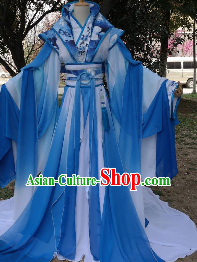 Blue Chinese Classical Princess Costumes Complete Set