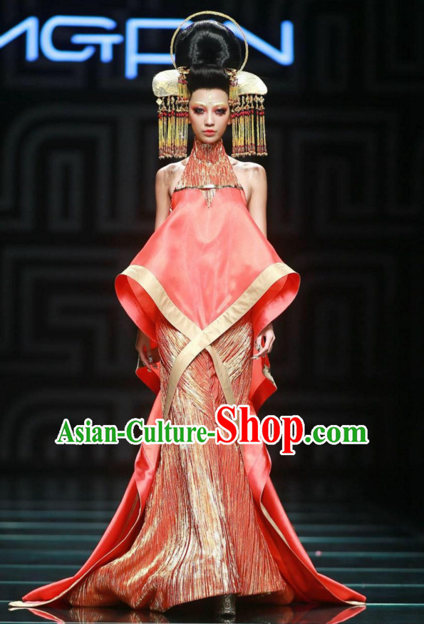 Handmade Chinese Model Stage Performance Hair Decorations Headpieces for Women