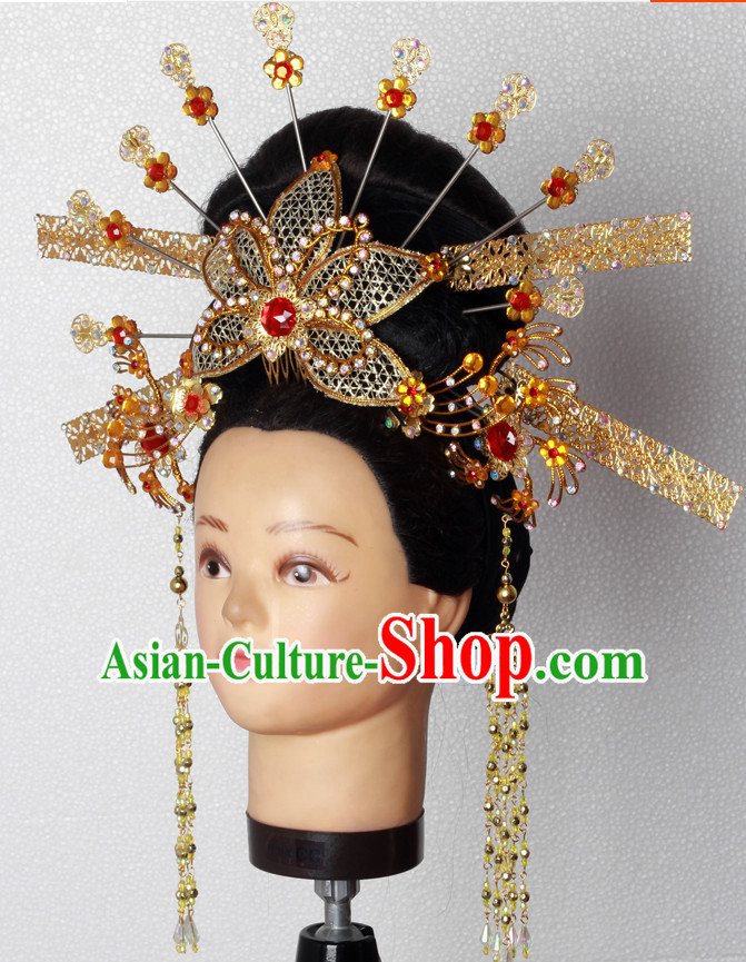 Handmade Chinese Fairy Stage Performance Hair Decorations Headpieces for Women