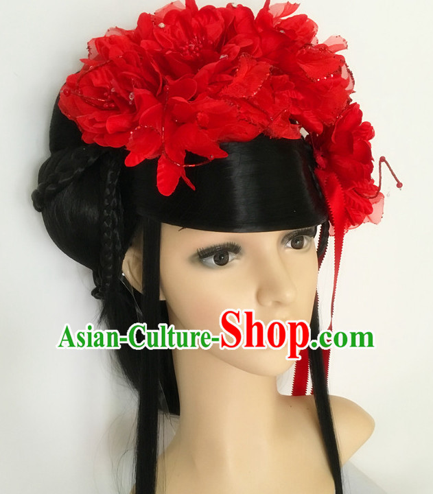 Ancient Chinese Red Lady Hair Accessories