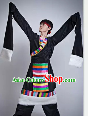 Chinese Long Sleeve Black Dance Costume Dance Costumes for Men