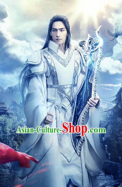 Chinese Ancient Swordsman Hanfu Clothing Film Hero Costumes Traditional Knight Dress Complete Set