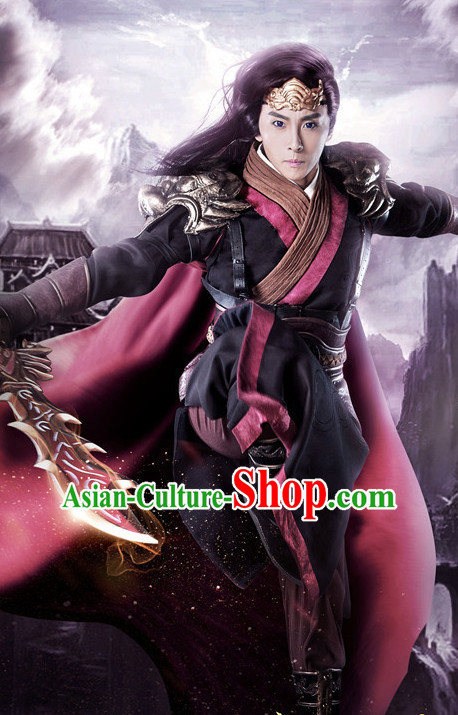 Chinese Ancient Swordsman Hanfu Clothes Film Superhero Costumes Traditional Knight Costume Complete Set