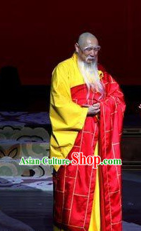 China Ancient Tang Dynasty Monk Opera Costume Drama Stage Costumes Complete Set