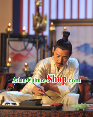 Chinese Ancient Tang Dynasty Emperor Black Wigs for Men