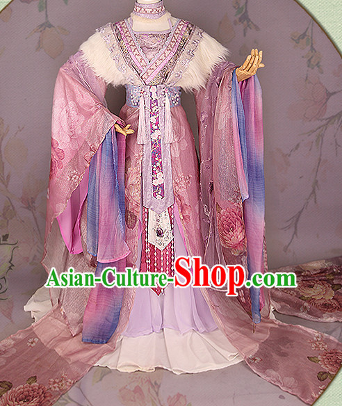 Chinese Princess Hanfu Robe Clothing Handmade Bjd Dress Opera Costume Drama Costumes Complete Set