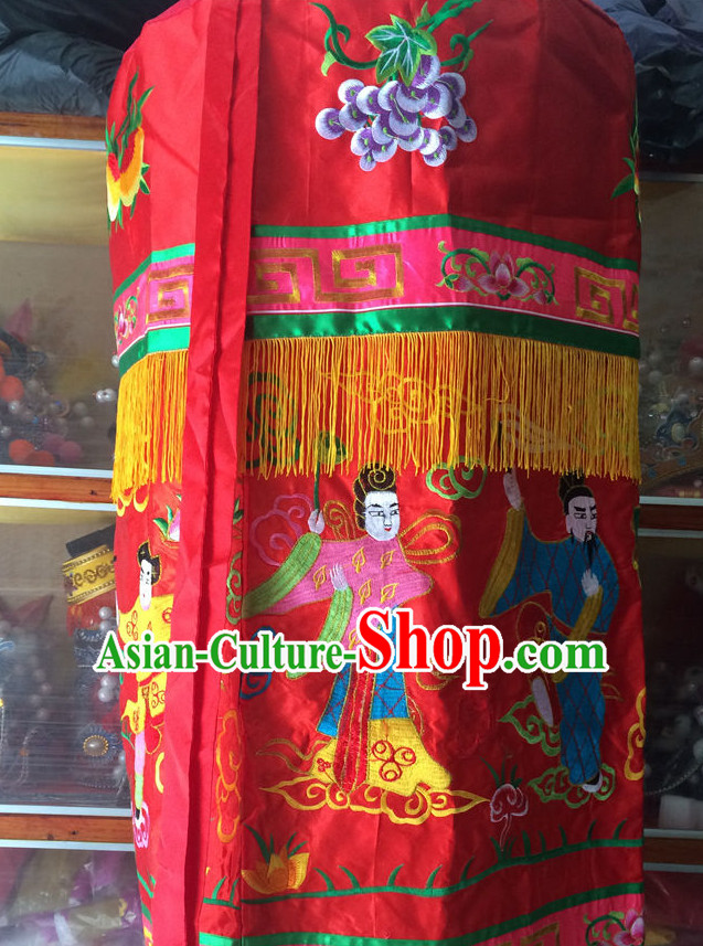 China Beijing Opera Embroidered Stage Performance Umbrellas Props