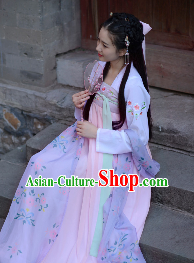 Ancient Chinese Tang Dynasty Women Han Costume Dress Hanfu Suit
