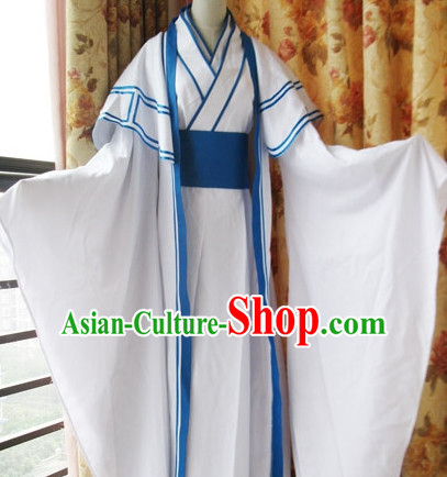 Chinese Men Scholar Hanbok Kimono Stage Opera Costume Dresses Costume Ancient Cosplay Complete Set