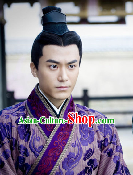Chinese Ancient Black Wigs for Men