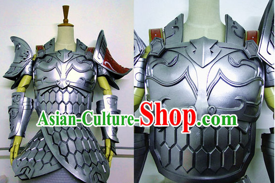 Special Ancient Chinese Official Armor Costumes Body Costume Dresses Complete Set