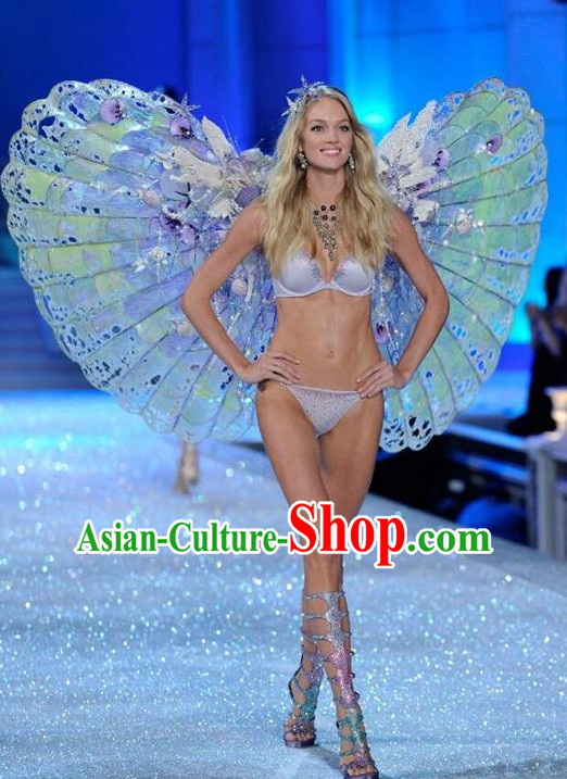 Parade Quality Model Feather Dance Costumes Popular Ostrich Feathers Fancy Costume Stage Drama Costumes Angel Wings Costume Complete Set