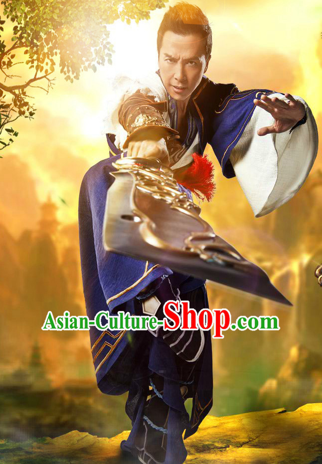 Chinese Men Knight Fancy Costume Stage Drama Costumes Parade Costume Complete Set