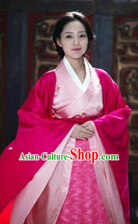 Chinese Ancient Palace Lady Hanfu Garment Complete Set for Women