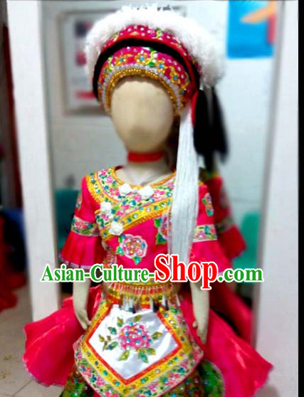 Chinese Stage Ethnic Style Costume Dance Costumes Fan Dance Umbrella Ribbon Fans Dance Fan Water Sleeve Costume for Women