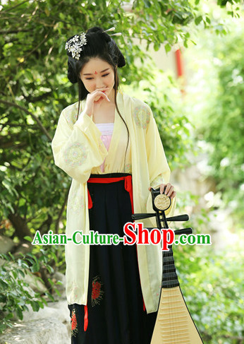 Ancient Chinese Women Dresses Hanfu Girls China Classical Clothing Histroical Dress Traditional National Costume Complete Set