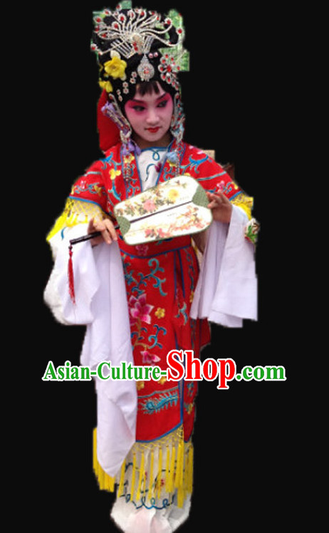 Ancient Chinese Children Opera Costumes Peking Opera Costume Historical Dress Traditional National Costume Complete Set