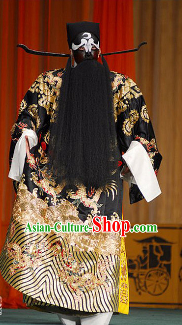 Ancient Chinese Men Opera Costumes Peking Opera Official Costume Historical Dress Traditional National Costume and Hat Complete Set