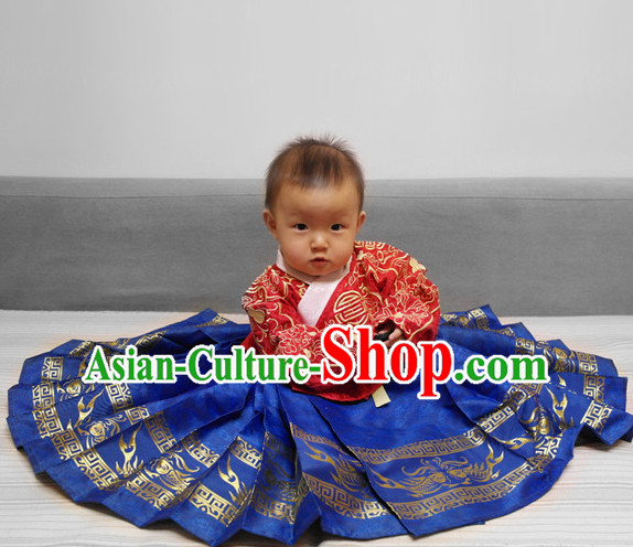 Classical Dance Chinese Clothes Drama Performance Hanfu for Children Baby