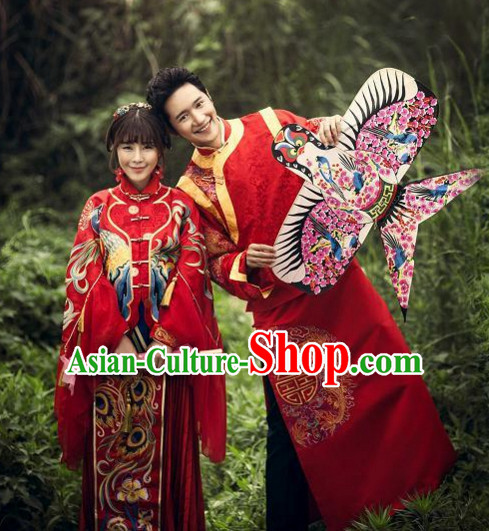 Chinese Traditional Wedding Dresses Bridal Wedding Gown Cloth