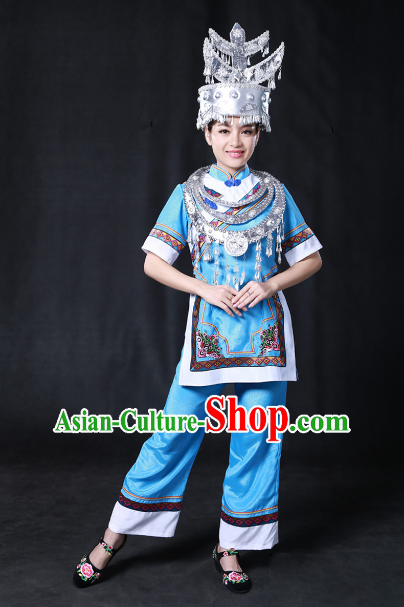 Miao Minority Women Dresses Ethnic Clothing Minority Hmong Dance Costume Minority Dress