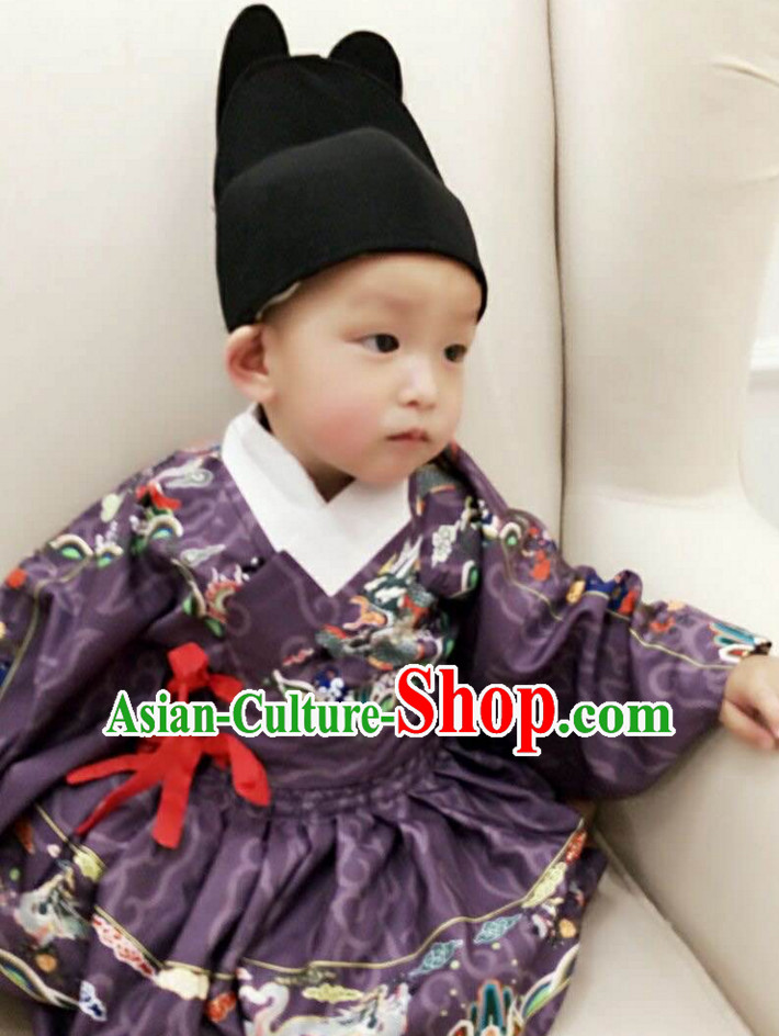 Traditional Chinese Ancient Ming Dynasty Clothing Imperial Dresses Beijing Classical Chinese Clothing for Kids Boys Babies