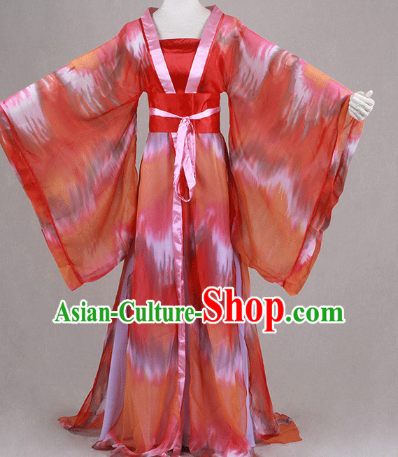 Traditional Chinese Ancient Clothing Han Fu Dresses Beijing Classical China Clothing for Girls
