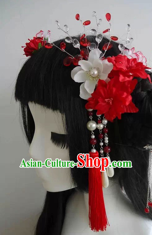 hair accessories Chinese hat long wig Chinese hair headgear hair ornament pin wedding crown
