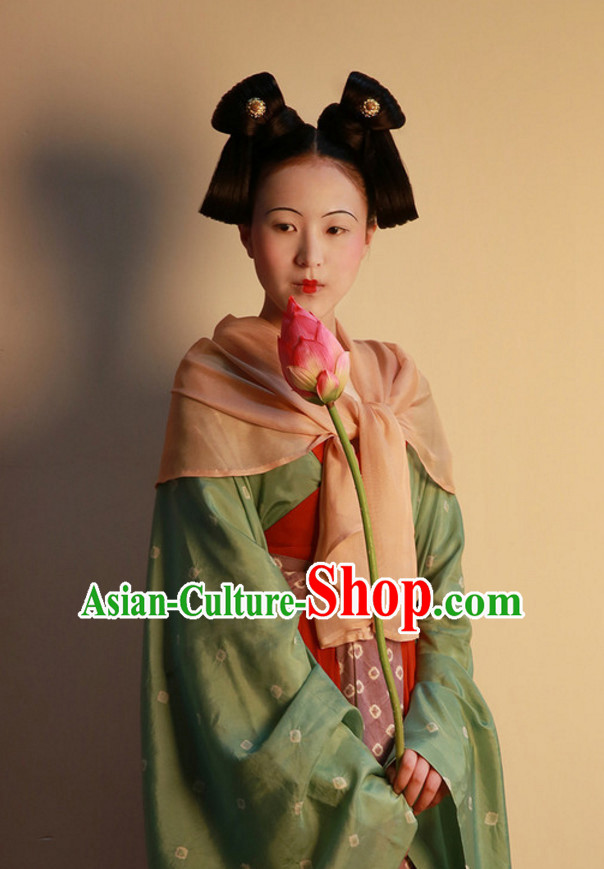Ancient Chinese Lady Female Black Wigs