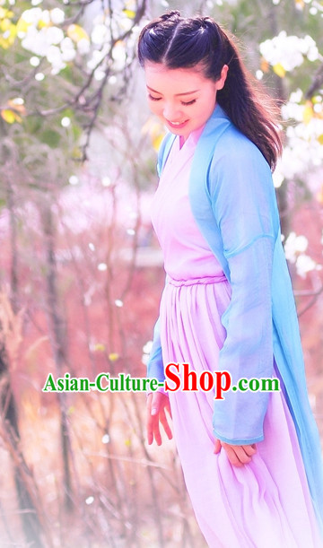 Chinese Traditional Hanfu Clothing Complete Set for Women