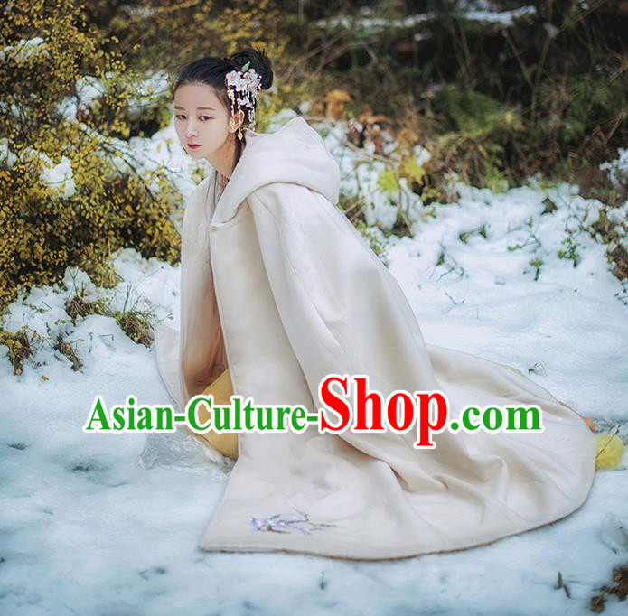 Traditional Classic Women Clothing, Traditional Classic Chinese Cloak, Chinese Ancient Style Embroidered Cape for Women