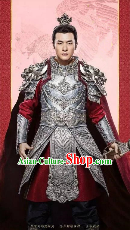 Traditional Chinese Ancient Men Costumes Corselet, Ancient Chinese Cosplay General Swordsmen Knight Costume Armour Complete Set for Men