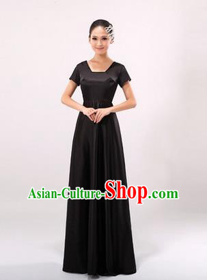 Traditional Chinese Classic Stage Performance Chorus Singing Group Dress Modern Dance Costumes, Chorus Competition Costume, Compere Costumes for Women