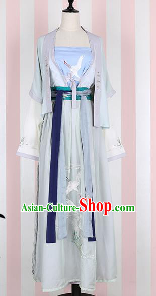 Traditional Chinese Ancient Princess Costumes, Chinese Han Dynasty Imperial Princess Embroidery Clothes Complete Set for Women
