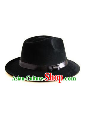 Chinese Traditional Hat Formal Hat Min Guo Play Stage Cross Talk Show Shanghai Town Wen Qiang Xu