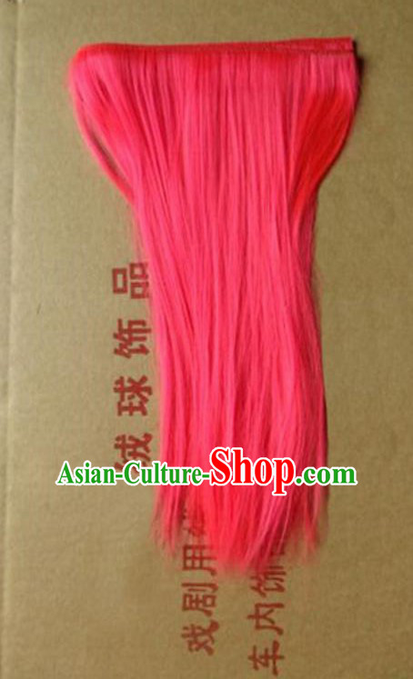 Lion Dance Accessory Dragon Dance Falsie Artificial Whiskers for Peking Opera Orange