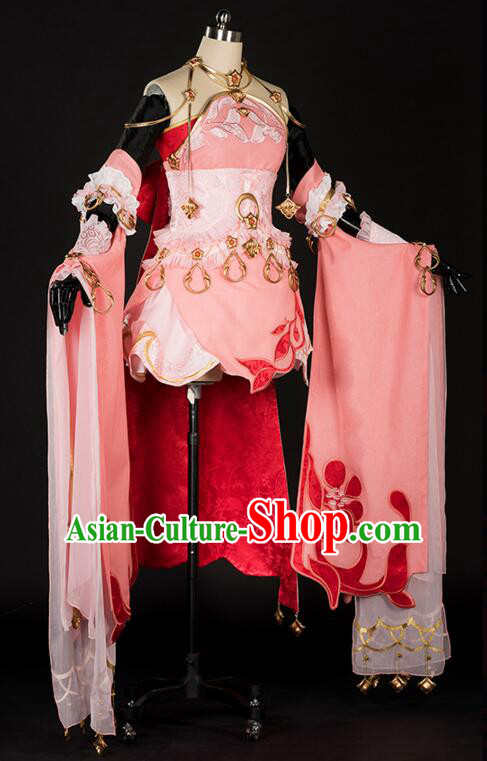 Chinese Cos Fairy Costume Garment for Women Dress Costumes Dress Adults Cosplay Japanese Korean Asian King Clothing
