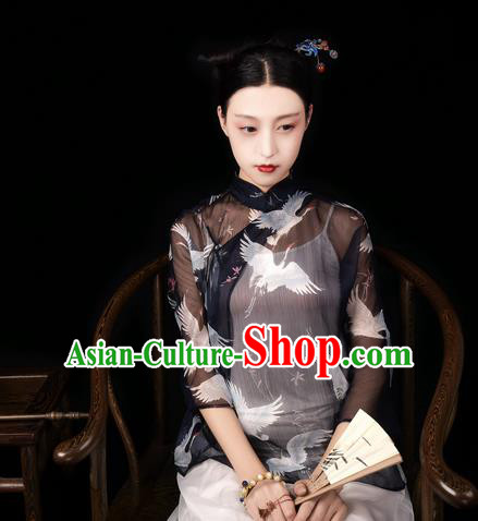 Traditional Classic Women Costumes, Traditional Classic Advanced Chiffon Jacket Small Unlined Upper Garment