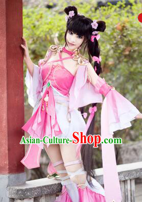 Chinense Ancient Clothes for Girl Femail Dress Chinese COSPLAY Costumes Garment Show Stage Dress Costumes Dress Cos