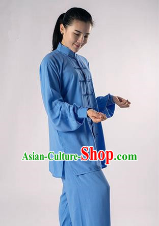 Top Noil Poplin Kung Fu Costume Martial Arts Kung Fu Training Uniform Gongfu Shaolin Wushu Clothing Tai Chi Taiji Teacher Suits Uniforms for Women