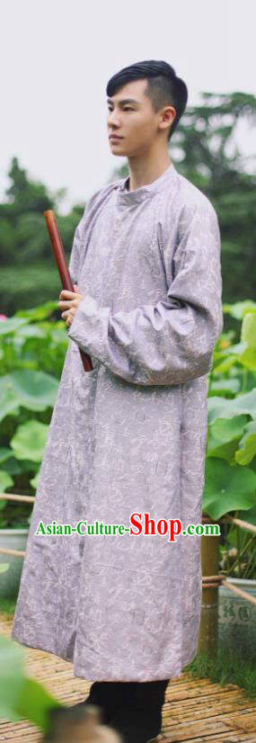 Traditional Chinese Tang Dynasty Prince Embroidered Costume, Asian China Ancient Swordsman Hanfu Robe Clothing for Men