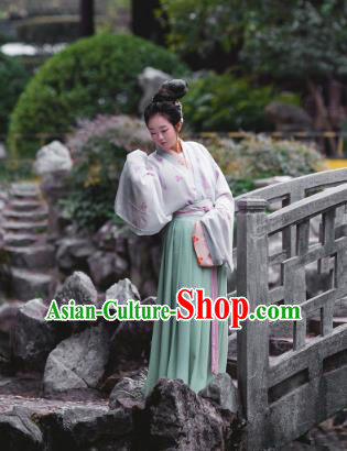 Traditional Chinese Ancient Jin Dynasties Young Lady Costume, Asian China Palace Princess Clothing for Women