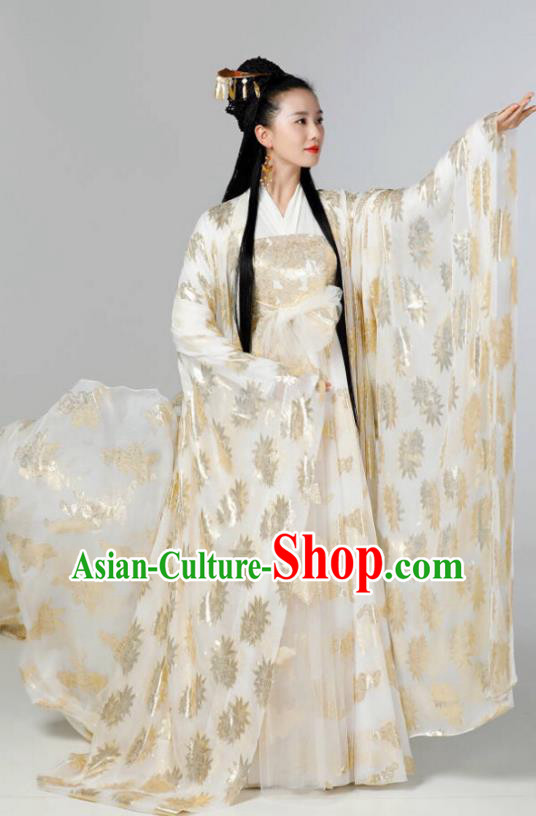 Traditional Chinese Northern and Southern Dynasties Imperial Concubine Costume, Asian China Ancient Palace Lady Embroidered Clothing