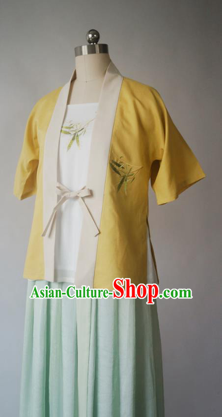 Asian China Song Dynasty Princess BeiZi Costume Complete Set, Traditional Chinese Ancient Embroidered Hanfu Clothing for Women