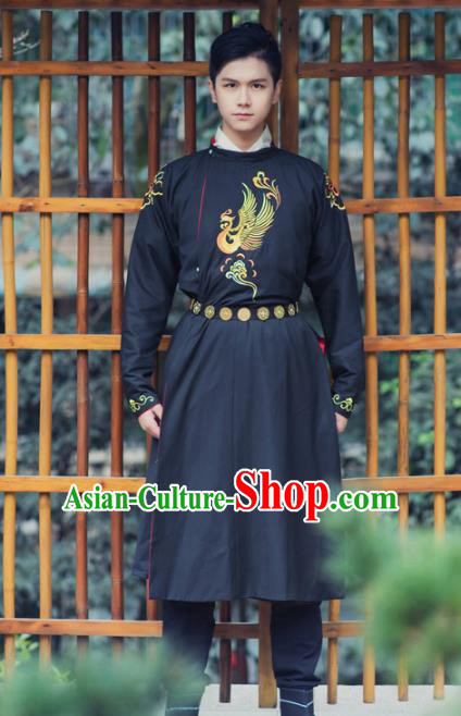 Asian China Tang Dynasty Swordsman Costume, Traditional Chinese Ancient Imperial Bodyguard Hanfu Clothing for Men