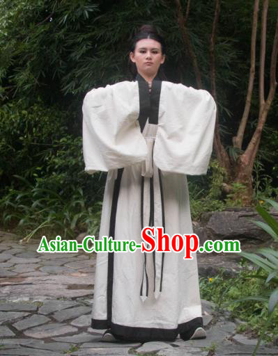 Traditional Ancient Chinese Swordsman Costume, Elegant Hanfu Clothing Chinese Ming Dynasty Scholar Clothing for Men