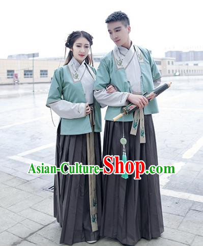 Traditional Chinese Song Dynasty Young Lady Hanfu Costume, Asian China Ancient Princess Embroidered Clothing for Women