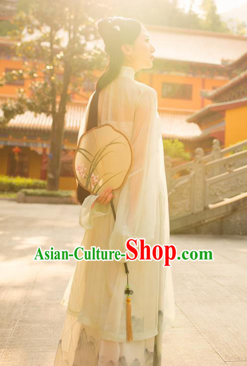 Traditional Chinese Ancient Costume Imperial Concubine Silk Blouse and Slip Skirt, Asian China Ming Dynasty Palace Lady Clothing for Women
